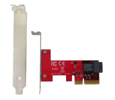PCIe 3.0 x4 Host Adapter with miniSAS HD 36P for U.2 PCIe-NVMe SSD