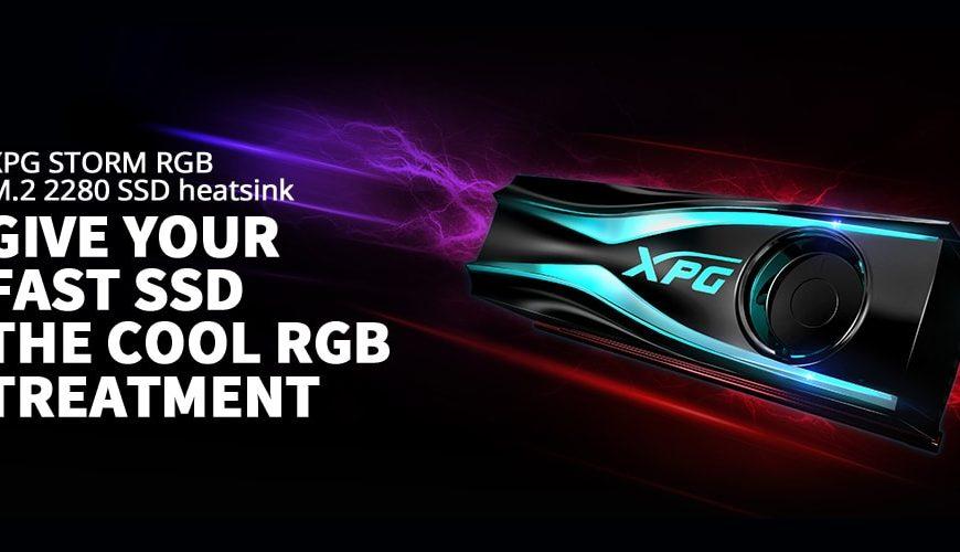 XPG STORM RGB M.2 2280 SSD heatsink
