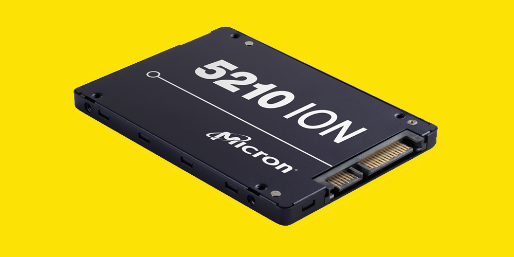 Micron first to market with QLC flash drive 5210 QLC SSD